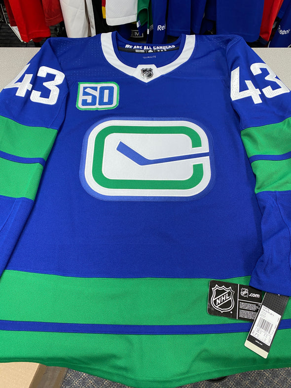 ANY NAME AND NUMBER VANCOUVER CANUCKS THIRD HERITAGE AUTHENTIC PRO ADIDAS NHL JERSEY - Hockey Authentic