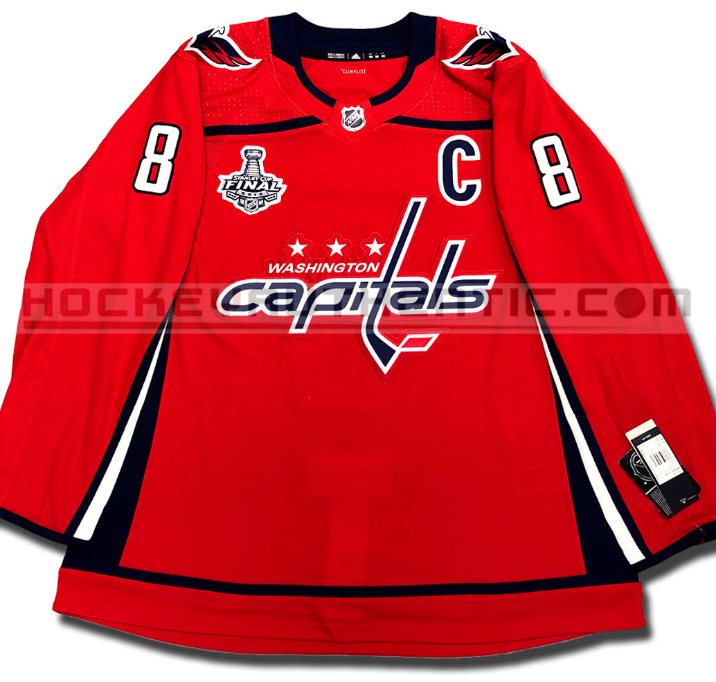 new styles 6ef18 db710 ALEX OVECHKIN WASHINGTON CAPITALS 2018 STANLEY CUP FINAL AUTHENTIC PRO  ADIDAS NHL JERSEY