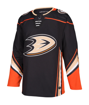 ANAHEIM DUCKS HOME BLACK AUTHENTIC PRO ADIDAS NHL JERSEY