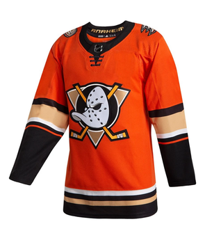 ANAHEIM DUCKS THIRD ORANGE AUTHENTIC PRO ADIDAS NHL JERSEY