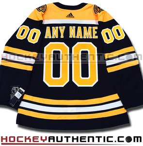 ANY NAME AND NUMBER BOSTON BRUINS AUTHENTIC PRO ADIDAS NHL JERSEY (2018-19 SEASON) - Hockey Authentic