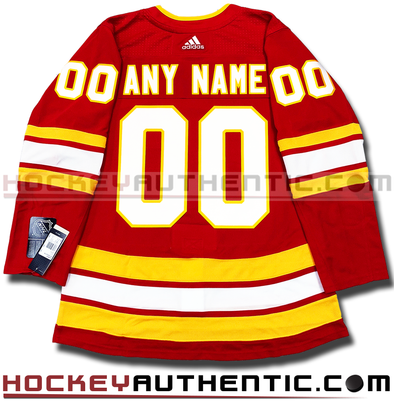 ANY NAME AND NUMBER CALGARY FLAMES THIRD AUTHENTIC PRO ADIDAS NHL JERSEY (2018-19 SEASON) - Hockey Authentic