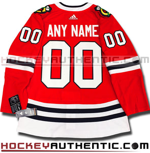 ANY NAME AND NUMBER CHICAGO BLACKHAWKS AUTHENTIC PRO ADIDAS NHL JERSEY (2018-19 ROSTER) - Hockey Authentic