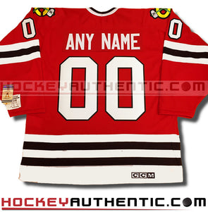 6944e0836 ANY NAME AND NUMBER CHICAGO BLACKHAWKS CCM VINTAGE 1992 REPLICA NHL JERSEY  - Hockey Authentic