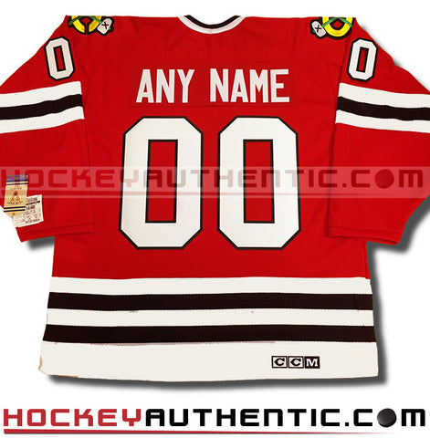 Any Name and Number Chicago Blackhawks CCM vintage jersey
