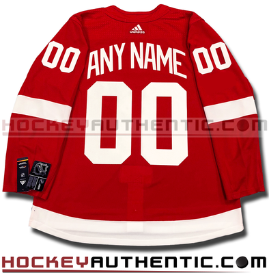 ANY NAME AND NUMBER DETROIT RED WINGS AUTHENTIC PRO ADIDAS NHL JERSEY (2018-19 SEASON) - Hockey Authentic