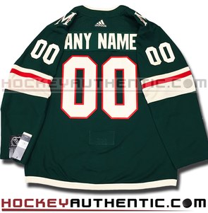 ANY NAME AND NUMBER MINNESOTA WILD HOME AUTHENTIC PRO ADIDAS NHL JERSEY