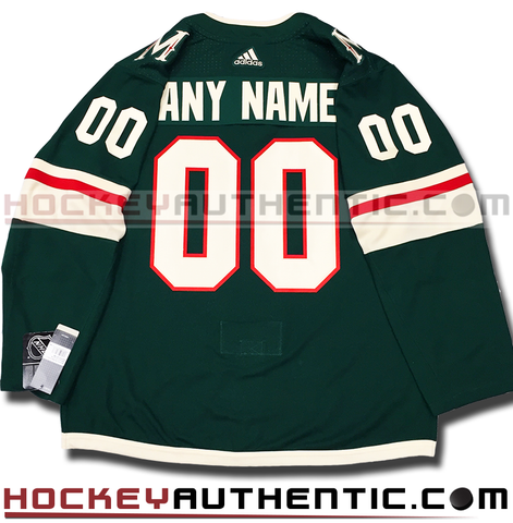 Any Name and Number Minnesota Wild home Adidas Adizero authentic pro jersey