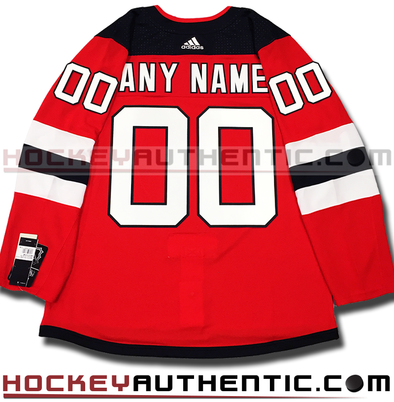 ANY NAME AND NUMBER NEW JERSEY DEVILS AUTHENTIC PRO ADIDAS NHL JERSEY (2018-19 ROSTER) - Hockey Authentic