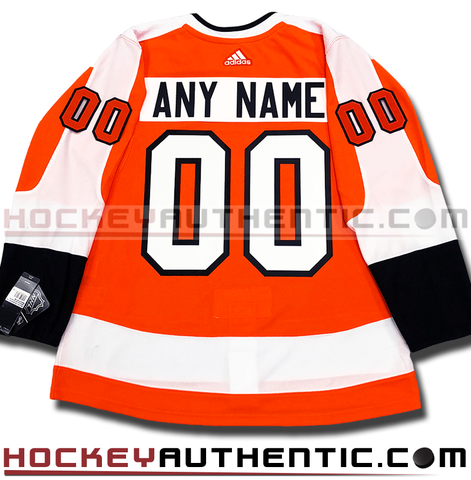 Any Name and Number Philadelphia Flyers home Adidas Adizero authentic pro jersey