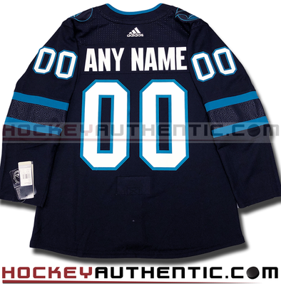 ANY NAME AND NUMBER SAN JOSE SHARKS THIRD STEALTH AUTHENTIC PRO ADIDAS NHL JERSEY (2018-19 ROSTER) - Hockey Authentic