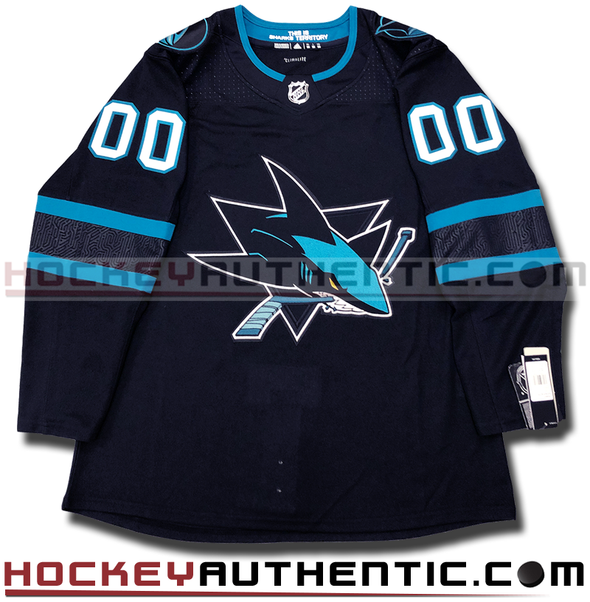 ANY NAME AND NUMBER SAN JOSE SHARKS THIRD STEALTH AUTHENTIC PRO ADIDAS NHL JERSEY - Hockey Authentic