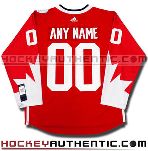 ANY NAME AND NUMBER TEAM CANADA ADIDAS 2016 WORLD CUP OF HOCKEY JERSEY -  Hockey Authentic 914c6e338