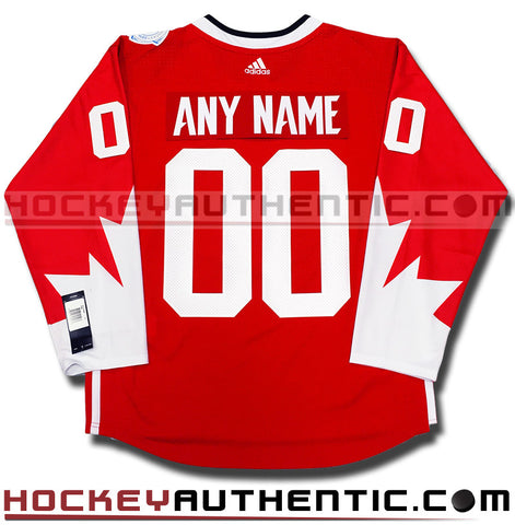 Any Name and Number 2016 Team Canada World Cup of Hockey red Adidas jersey
