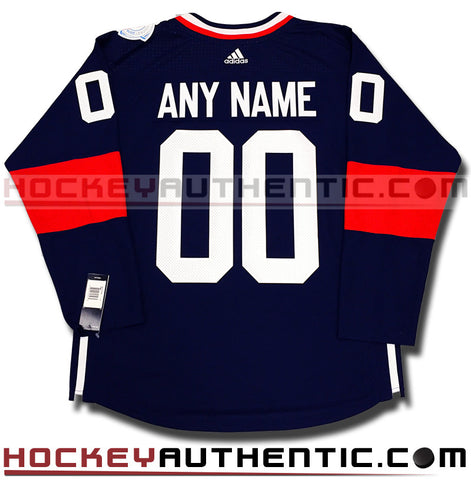 Any Name and Number 2016 Team USA World Cup of Hockey navy Adidas jersey