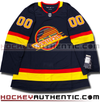 ANY NAME AND NUMBER VANCOUVER CANUCKS RETRO BLACK SKATE AUTHENTIC PRO ADIDAS NHL JERSEY - Hockey Authentic