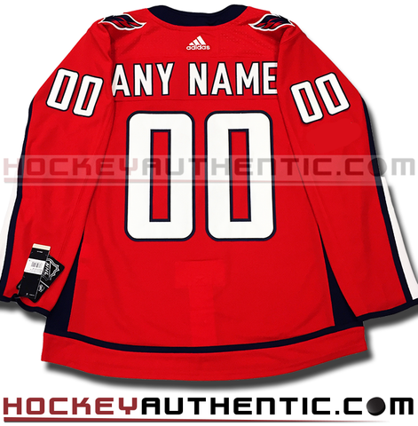 Any Name and Number Washington Capitals home Adidas Adizero authentic pro jersey