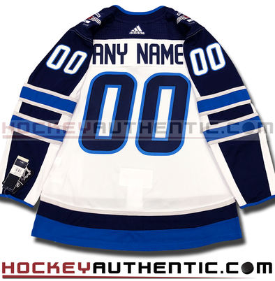 ANY NAME AND NUMBER WINNIPEG JETS AWAY AUTHENTIC PRO ADIDAS NHL JERSEY