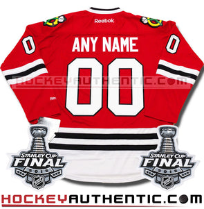 ANY NAME AND NUMBER CHICAGO BLACKHAWKS 2015 STANLEY CUP FINALS PREMIER REEBOK NHL JERSEY - Hockey Authentic