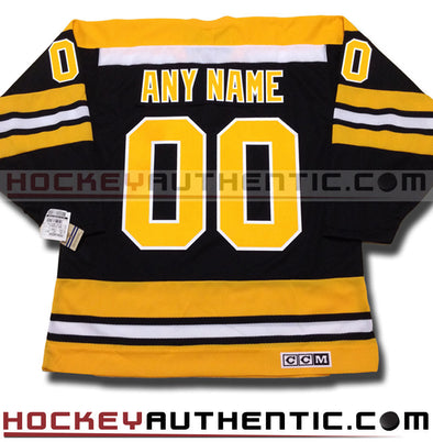 ANY NAME AND NUMBER BOSTON BRUINS CCM VINTAGE 1970 REPLICA NHL JERSEY - Hockey Authentic