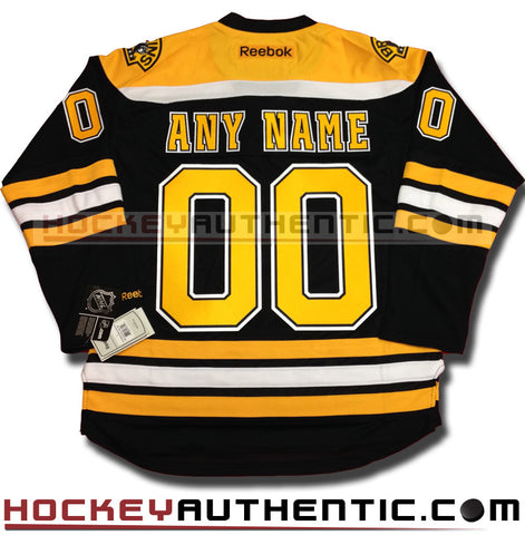 Any Name and Number Boston Bruins home Reebok jersey