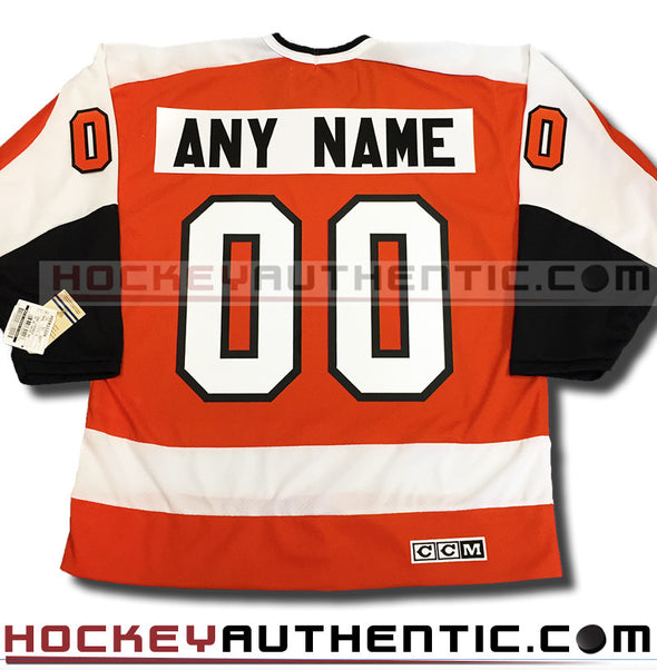 ANY NAME AND NUMBER PHILADELPHIA FLYERS CCM VINTAGE REPLICA NHL JERSEY - Hockey Authentic