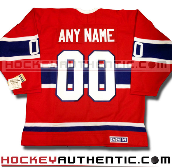 ANY NAME AND NUMBER MONTREAL CANADIENS CCM VINTAGE REPLICA NHL JERSEY - Hockey Authentic