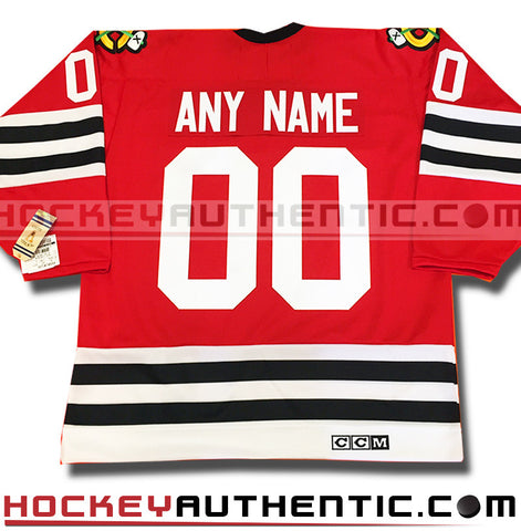 Any Name and Number Chicago Blackhawks 1963 CCM vintage jersey