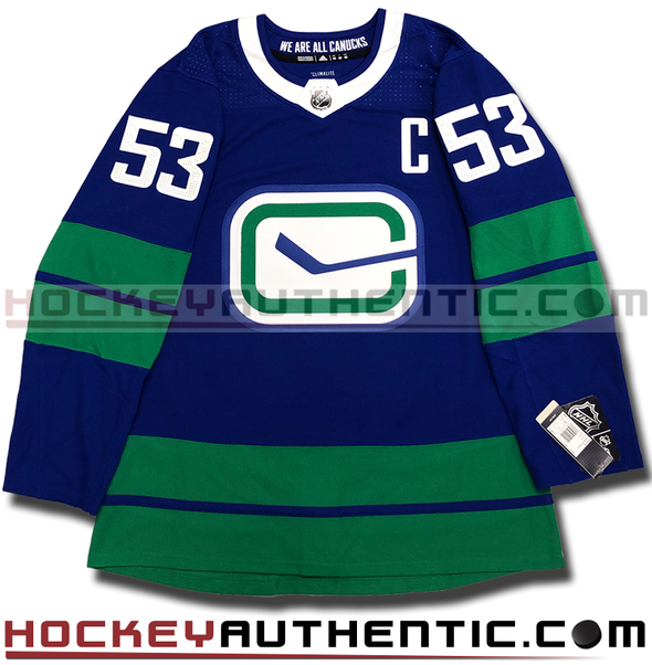 BO HORVAT VANCOUVER CANUCKS THIRD HERITAGE AUTHENTIC PRO ADIDAS NHL JERSEY