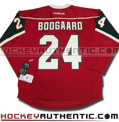 Derek Boogaard Minnesota Wild home Reebok jersey - Hockey Authentic