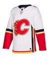 CALGARY FLAMES AWAY WHITE AUTHENTIC PRO ADIDAS NHL JERSEY - Hockey Authentic