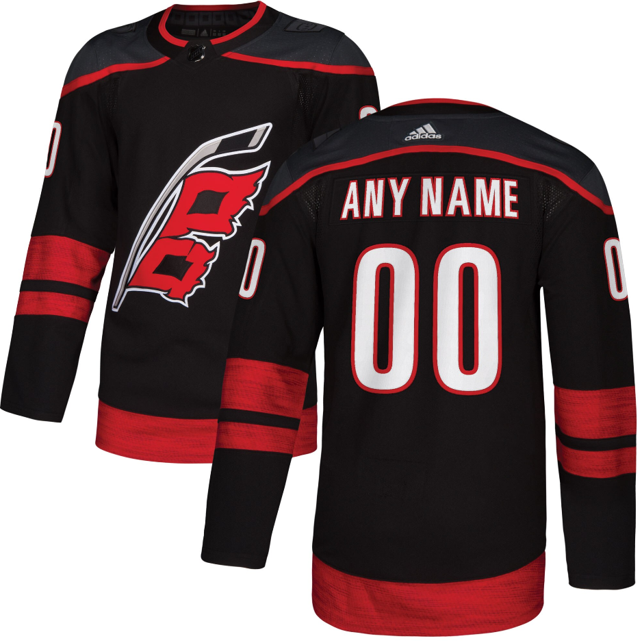 ANY NAME AND NUMBER CAROLINA HURRICANES THIRD ALTERNATE AUTHENTIC ...