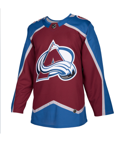 COLORADO AVALANCHE HOME BURGUNDY AUTHENTIC PRO ADIDAS NHL JERSEY