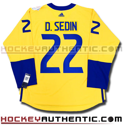 DANIEL SEDIN TEAM SWEDEN ADIDAS 2016 WORLD CUP OF HOCKEY JERSEY - Hockey Authentic