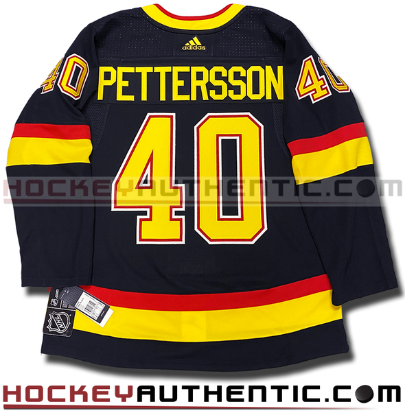 ELIAS PETTERSSON VANCOUVER CANUCKS RETRO BLACK SKATE AUTHENTIC PRO ADIDAS NHL JERSEY - Hockey Authentic