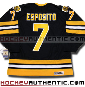 PHIL ESPOSITO BOSTON BRUINS CCM VINTAGE 1975 REPLICA NHL JERSEY