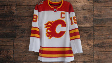 ANY NAME AND NUMBER CALGARY FLAMES 2019 HERITAGE CLASSIC AUTHENTIC PRO ADIDAS NHL JERSEY - Hockey Authentic