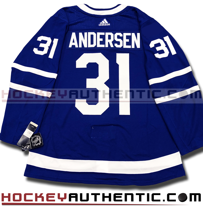 official photos 71121 c8b96 FREDERIK ANDERSEN TORONTO MAPLE LEAFS AUTHENTIC PRO ADIDAS NHL JERSEY -