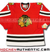 GLENN HALL CHICAGO BLACKHAWKS CCM VINTAGE 1965 REPLICA NHL JERSEY - Hockey Authentic