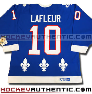 GUY LAFLEUR QUEBEC NORDIQUES CCM VINTAGE 1990 REPLICA NHL JERSEY - Hockey Authentic