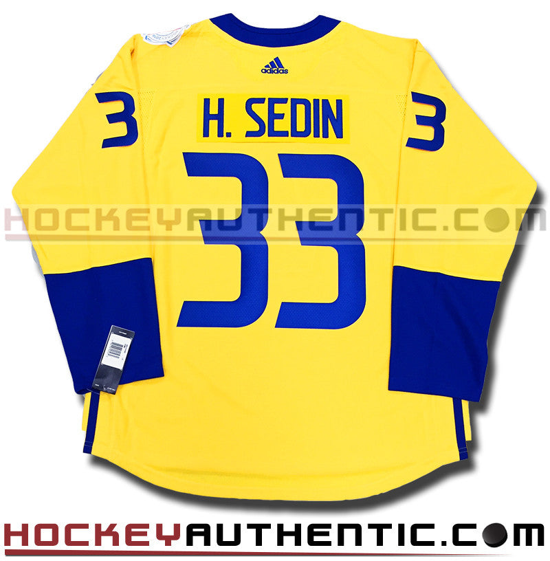 46a359f89fe HENRIK SEDIN TEAM SWEDEN ADIDAS 2016 WORLD CUP OF HOCKEY JERSEY – Hockey  Authentic