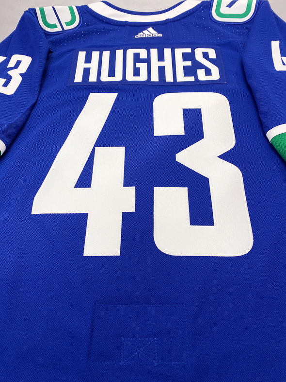 QUINN HUGHES VANCOUVER CANUCKS AUTHENTIC PRO ADIDAS NHL JERSEY - Hockey Authentic