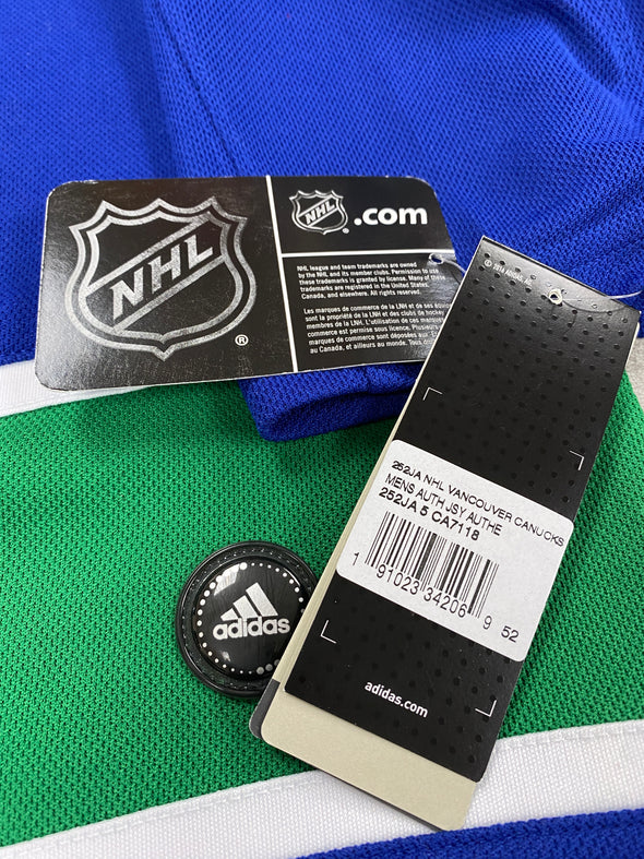 MAKE AN OFFER - BROCK BOESER VANCOUVER CANUCKS HOME PRO ADIDAS JERSEY SIZE 52/L - Hockey Authentic