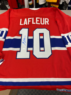MAKE AN OFFER - GUY LAFLEUR SIGNED MONTREAL CANADIENS CCM VINTAGE JERSEY SIZE XL - Hockey Authentic
