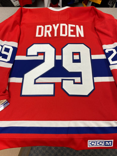 MAKE AN OFFER - KEN DRYDEN MONTREAL CANADIENS CCM VINTAGE JERSEY SIZE M - Hockey Authentic