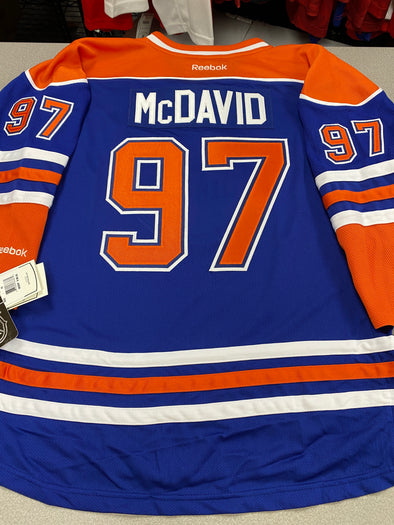 MAKE AN OFFER - CONNOR MCDAVID EDMONTON OILERS HOME REEBOK JERSEY SIZE YOUTH L/XL - Hockey Authentic