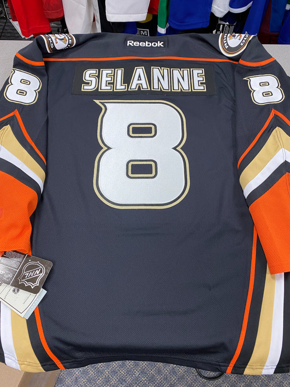 MAKE AN OFFER - TEEMU SELANNE ANAHEIM DUCKS HOME REEBOK JERSEY SIZE XL - Hockey Authentic