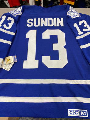 MAKE AN OFFER - MATS SUNDIN TORONTO MAPLE LEAFS CCM VINTAGE JERSEY SIZE M - Hockey Authentic