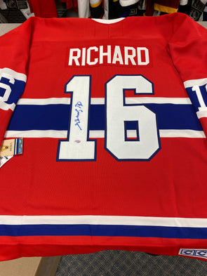 MAKE AN OFFER - HENRI RICHARD SIGNED MONTREAL CANADIENS CCM VINTAGE JERSEY SIZE XL - Hockey Authentic