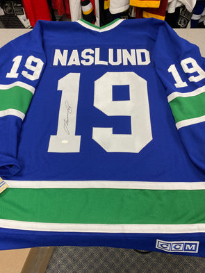 MAKE AN OFFER - MARKUS NASLUND SIGNED VANCOUVER CANUCKS CCM VINTAGE 1994 JERSEY SIZE XL - Hockey Authentic